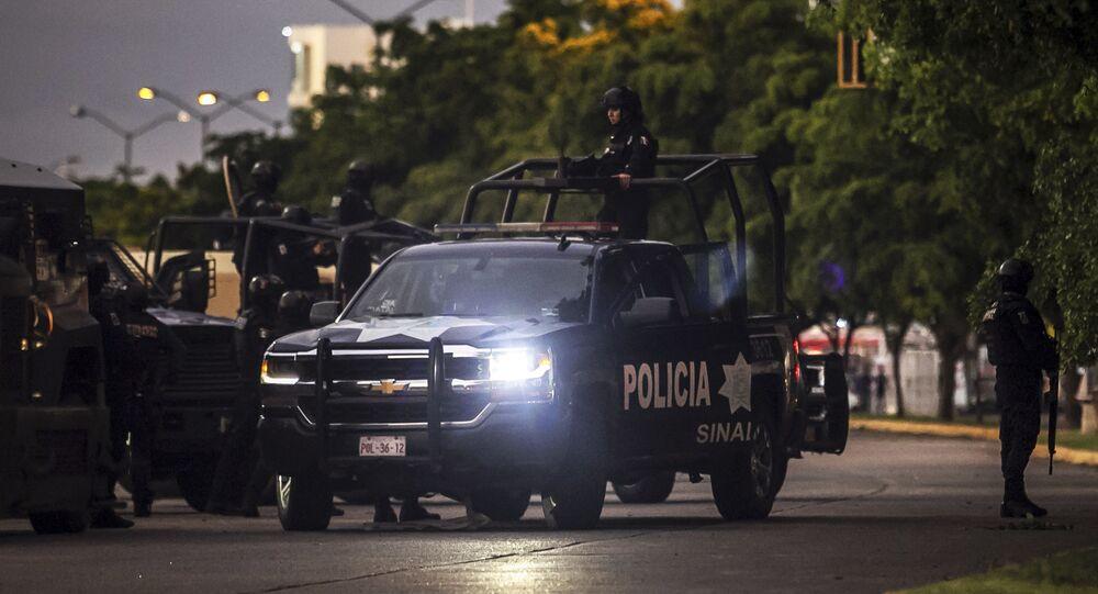 Policía en Culiacán, México