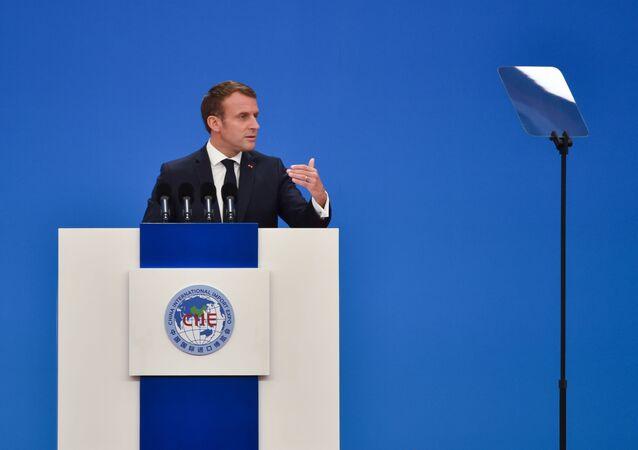 Presidente francese Emmanuel Macron in visita in Cina