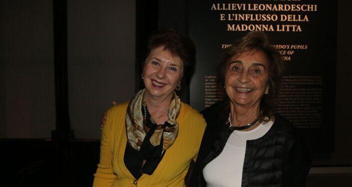 Irina Artemieva, direttore dell'Ermitage Italia con Annalisa Zanni, direttore del museo Poldi Pezzoli