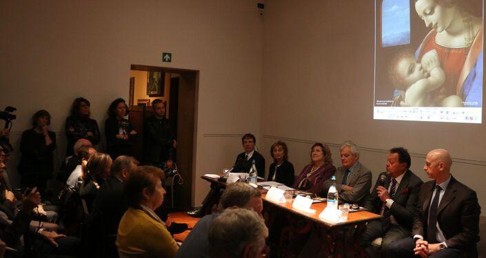 La conferenza stampa nel museo Poldi Pezzoli