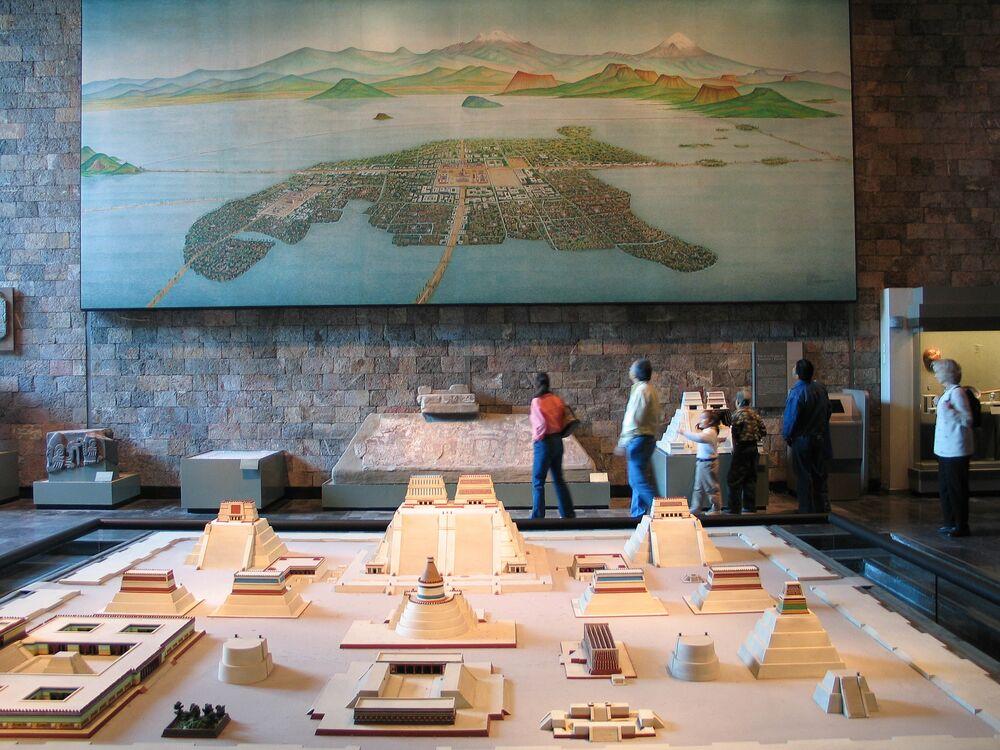 Modello dell'antica città di Tenochtitlán a Città del Messico
