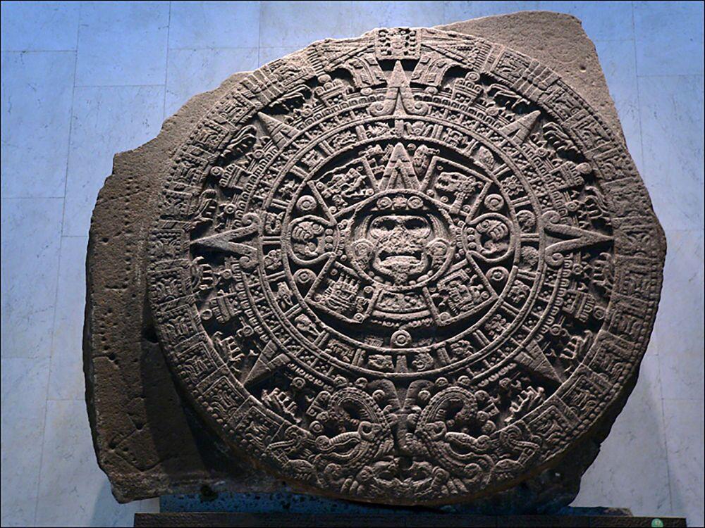 Antico calendario azteco