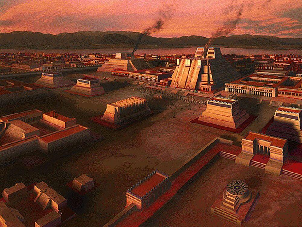 Una ricostruzione di Tenochtitlàn