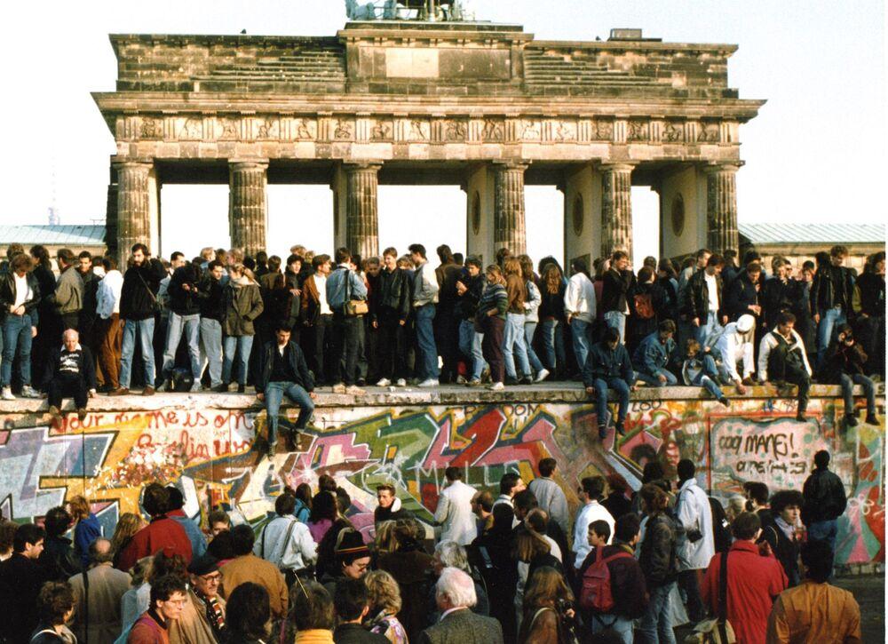La caduta del muro nel 1989.