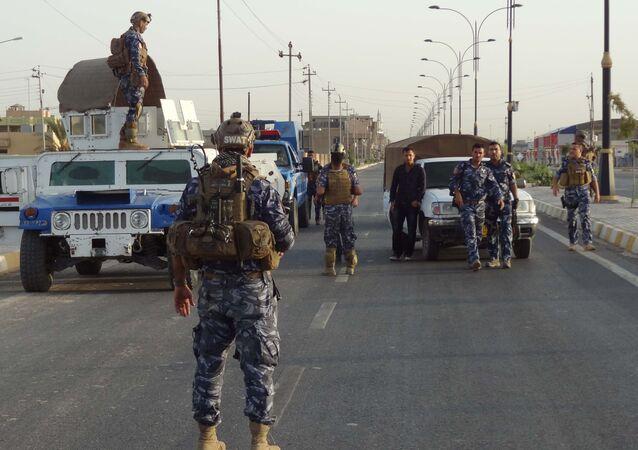 Le forze di Sicurezza irachene nei pressi di Kirkuk