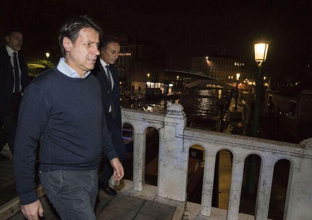 Il presidente del Consiglio Conte a Venezia