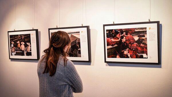 L'inaugurazione della mostra dedicata ai vincitori del concorso Stenin a Cascina Roma, San Donato Milanese - Sputnik Italia