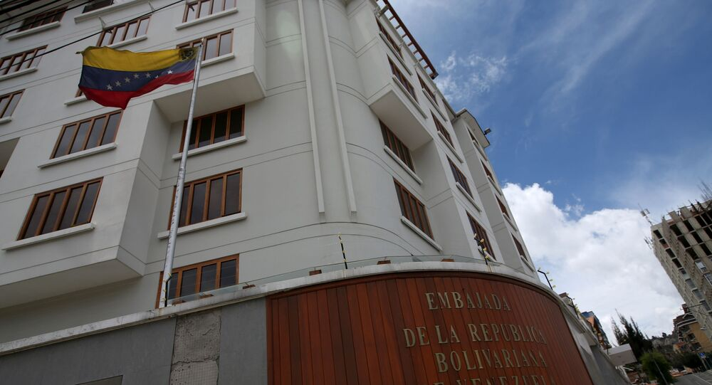 L'edificio dell'ambasciata venezuelana a La Paz