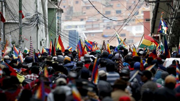 Supporters of former President Evo Morales in La Paz - Sputnik Italia