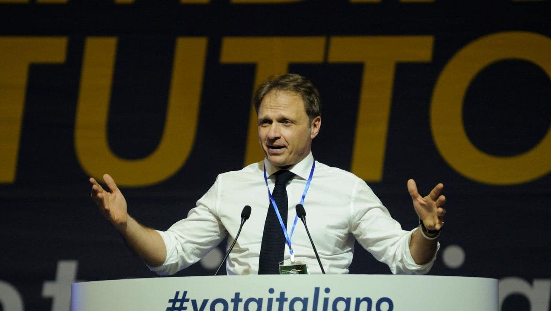 Francesco Lollobrigida, capogruppo di Fratelli d'Italia alla Camera. - Sputnik Italia, 1920, 07.05.2021