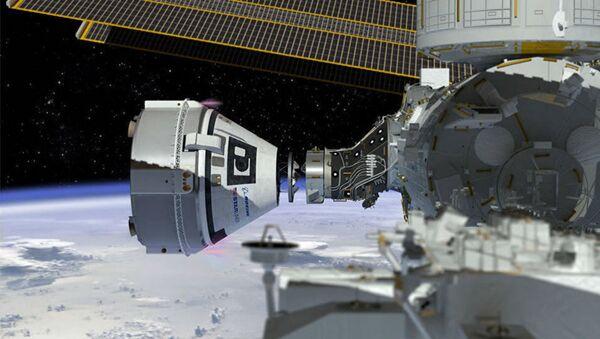 Come un'artista immagina il Boeing's CST-100 Starliner spacecraft, al momento in costruzione per la NASA - Sputnik Italia