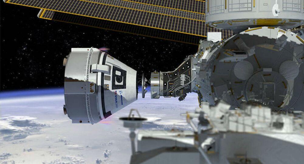 Come un'artista immagina il Boeing's CST-100 Starliner spacecraft, al momento in costruzione per la NASA
