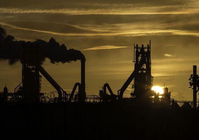 Impianto della British Steel a Scunthorpe, nel nord della contea Lincolnshire