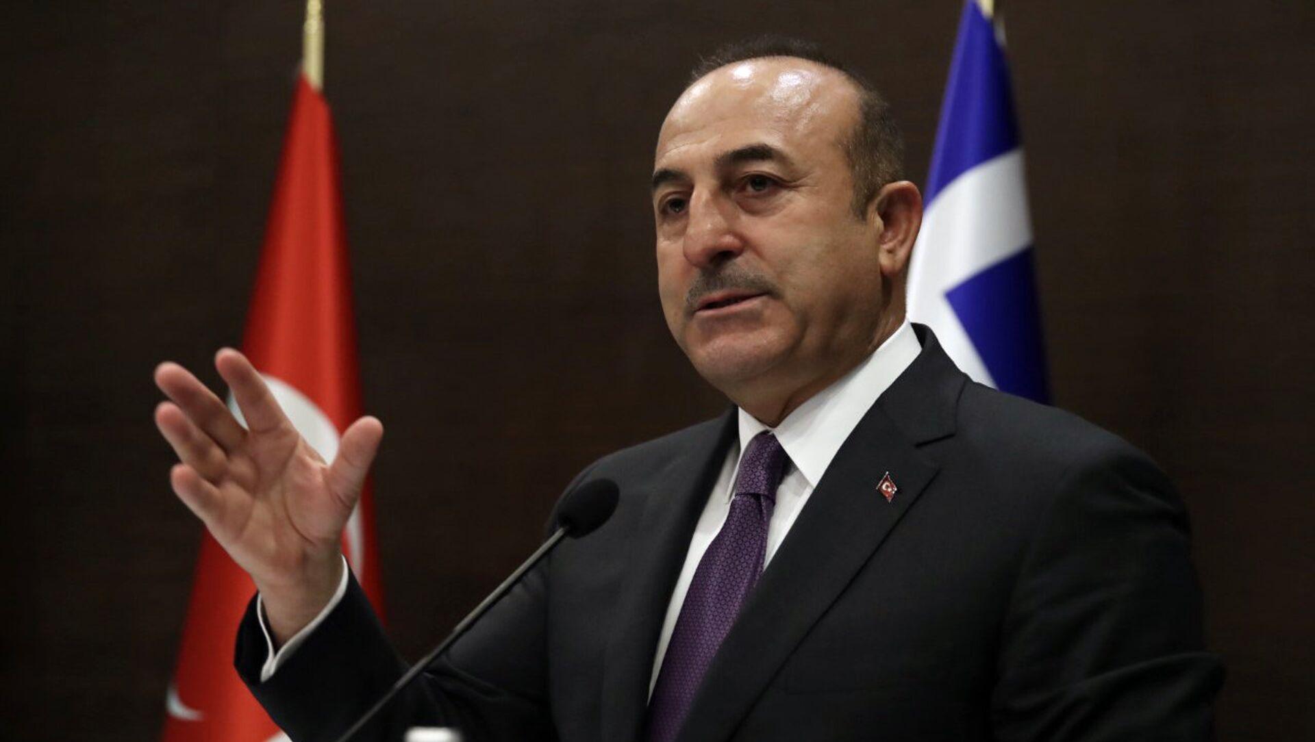 Il ministro degli Esteri turco Mevlut Cavusoglu - Sputnik Italia, 1920, 16.05.2021