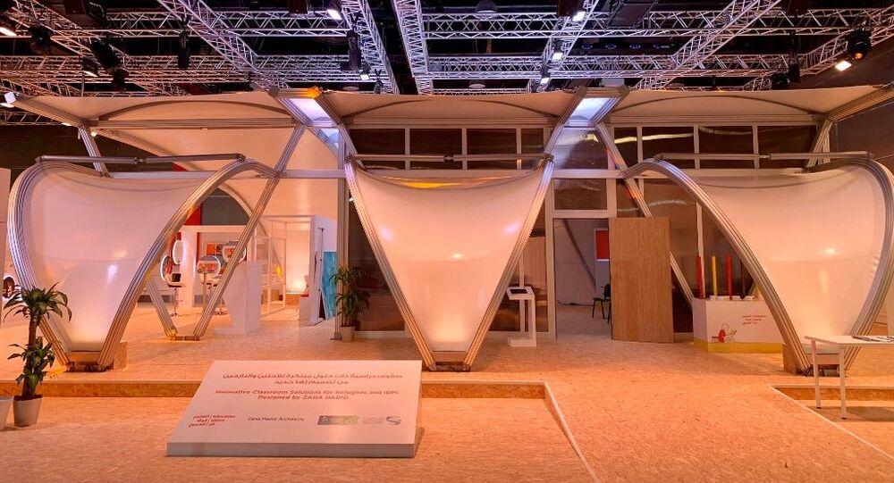 Aula studio per i campi profughi progettata dallo studio di Zahi Hadid