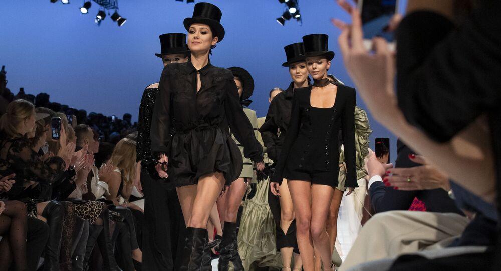 Una sfilata di moda a Vilnus