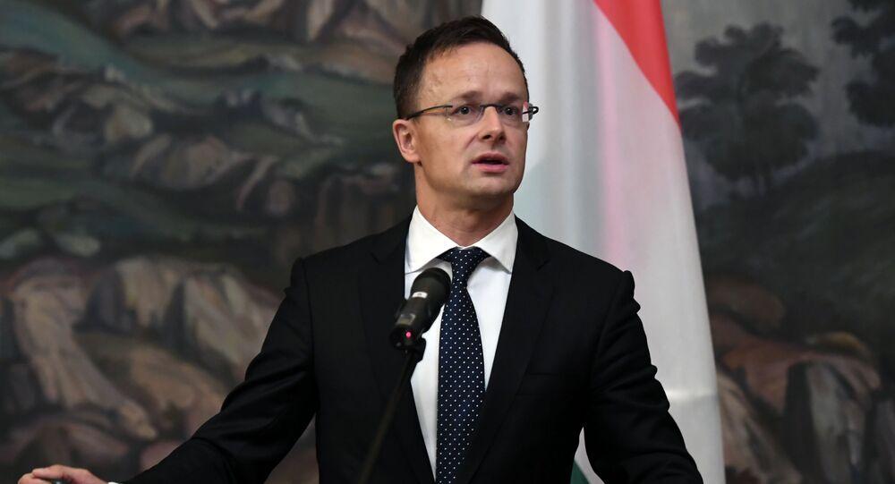 Il ministro degli Esteri ungherese Peter Szijjarto