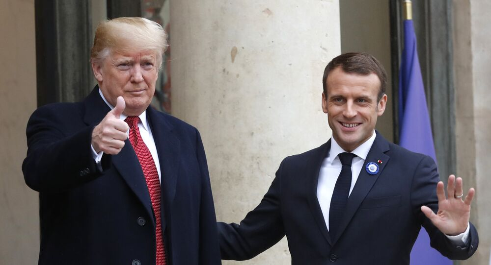 Donald Trump e Emmanuel Macron (foto d'archivio)