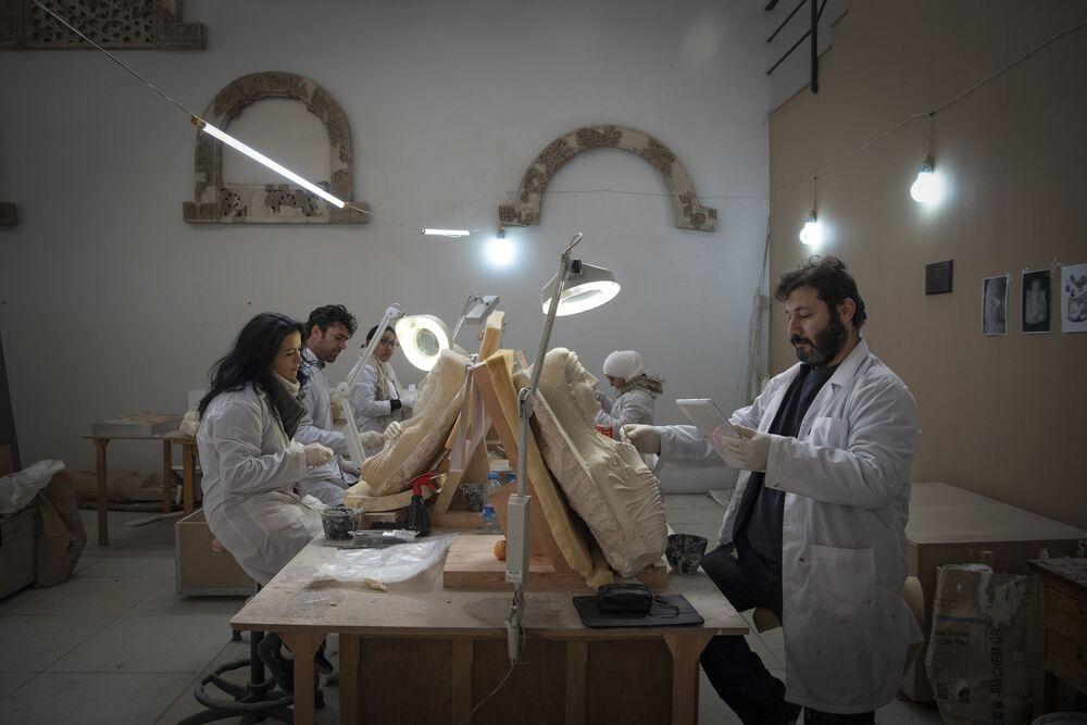 Nel Museo di Damasco