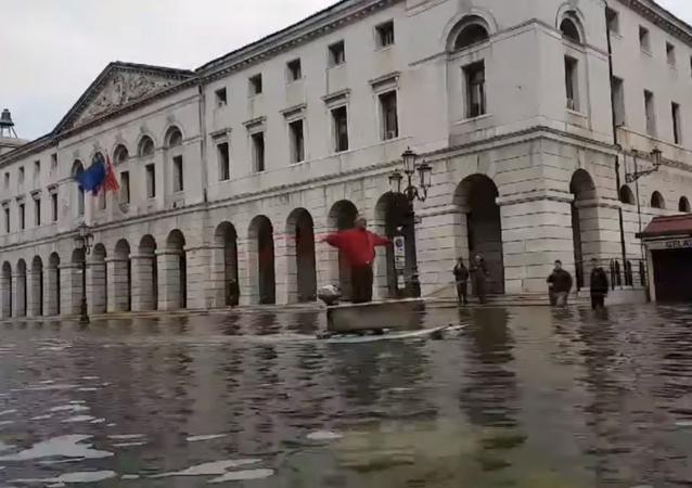 Acqua alta a Chioggia