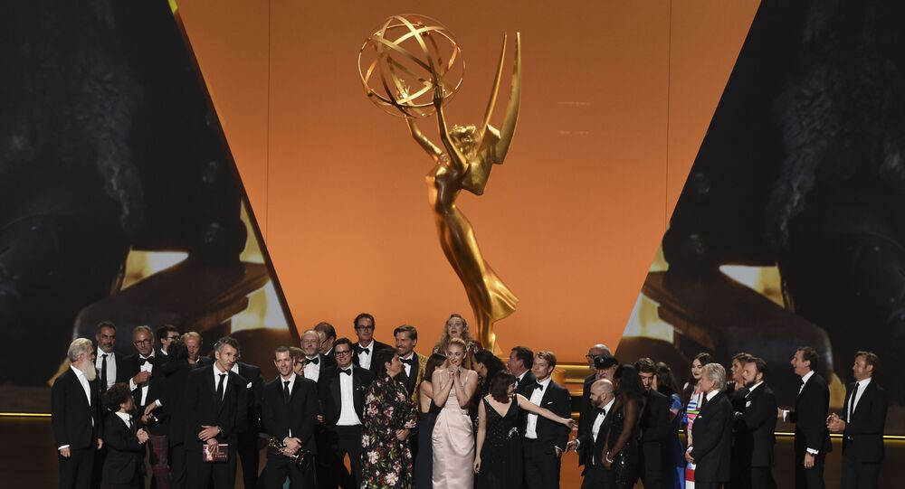 Il cast e gli operatori di Game Of Thrones al 71esimo Primetime Emmy Awards