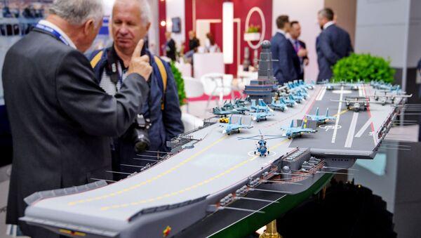 """Un modello delle portaerei della Marina Russa classe """"Lamantin"""" - Sputnik Italia"""
