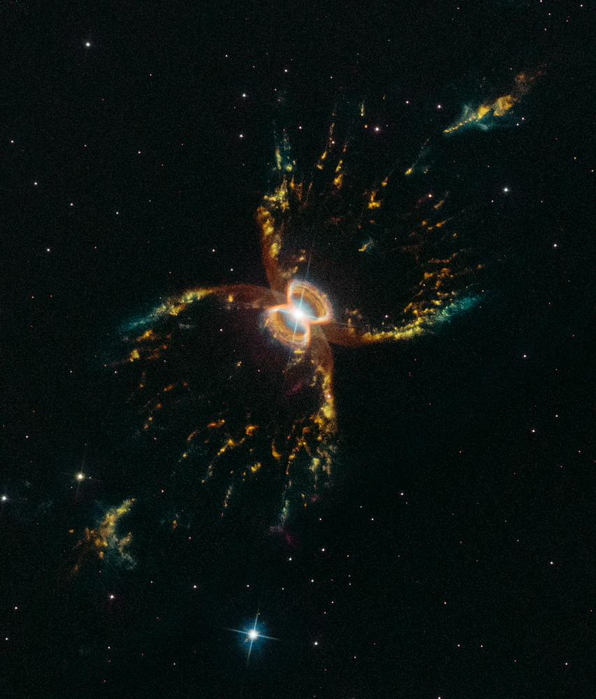 In occasione del 29° anniversario del lancio del telescopio orbitale Hubble della NASA, gli astronomi hanno immortalato questa Nebulosa colorata di Southern Crab Nebula