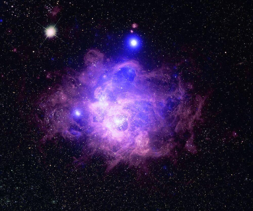 La nebulosa NGC 604 nella costellazione del triangolo