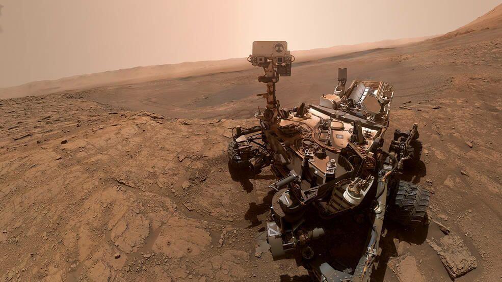 Il rover della NASA Curiosity ha scattato questo selfie il 11 ottobre 2019 su Marte
