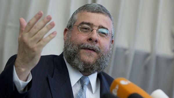 Il rabbino capo di Mosca Pinchas Goldschmidt - Sputnik Italia