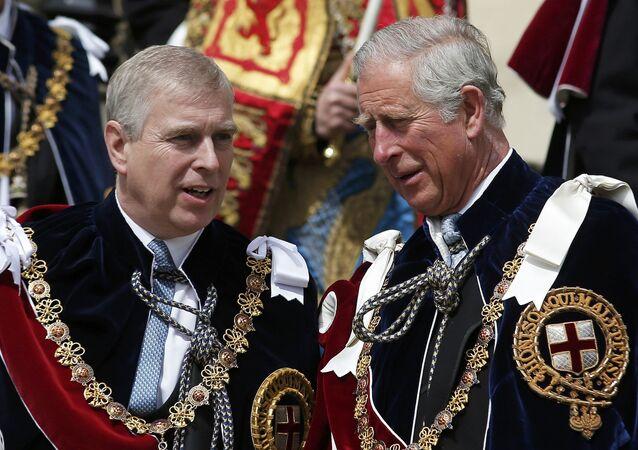 Il principe Andrew con il principe Carlo
