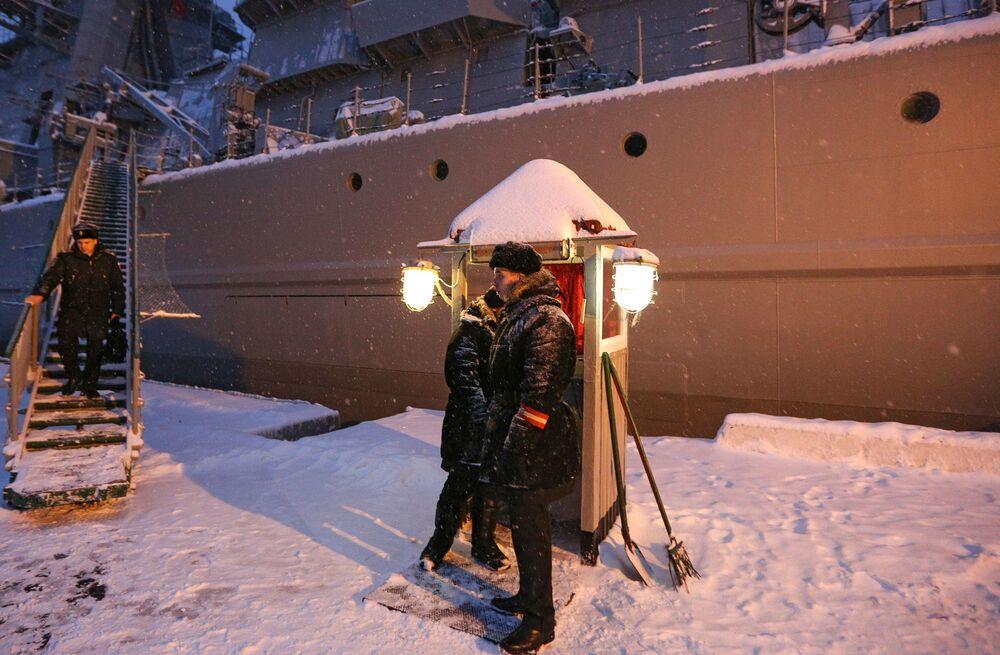 L'incrociatore lanciamissili pesante a propulsione nucleare Pyotr Velikiy
