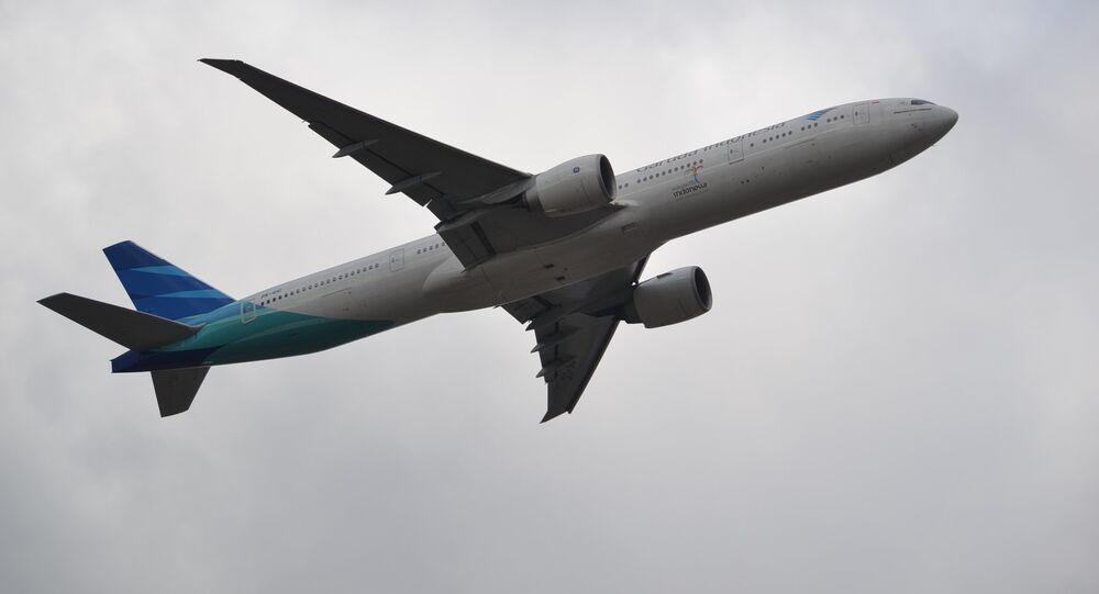 Un aereo Boeing della Garuda Indonesia