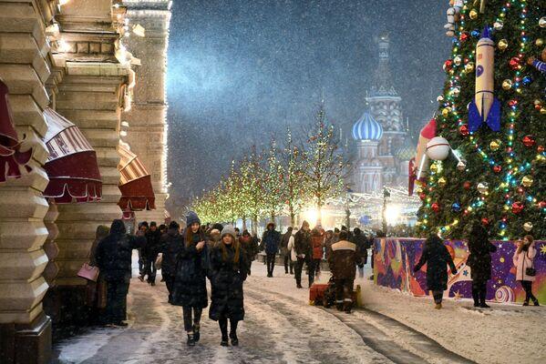 Addobbi natalizi a Mosca. - Sputnik Italia
