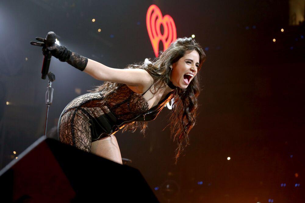 La cantante Camila Cabello si esibisce a Dallas, in Texas.
