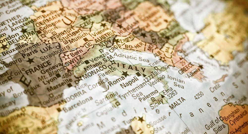La mappa del Mediterraneo