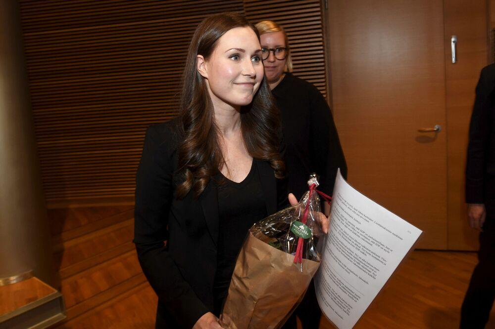 Sanna Marin, esponente del Partito social democratico finlandese (Sdp), a 34 anni è la premier più giovane del mondo, l'8 dicembre 2019