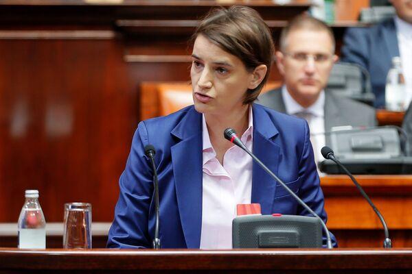 Ana Brnabić è una politica serba, dal 29 giugno 2017 Prima ministra della Serbia, prima donna nella storia del suo Paese ad assumere tale incarico - Sputnik Italia