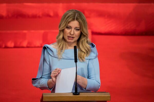 L'avvocatessa anti-corruzione Zuzana Caputova è diventata la prima presidente donna della Slovacchia, il 15 giugno 2019 - Sputnik Italia