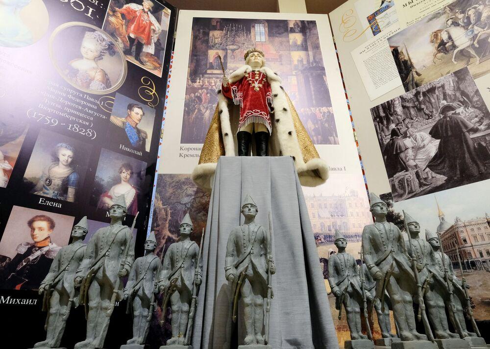 Una bambola di Paolo I alla mostra I monarchi russi. Le pagine della storia a Mosca