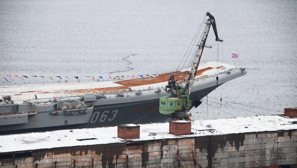 Portaerei Admiral Kuznetsov (foto d'archivio) - Sputnik Italia
