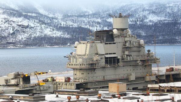 La portaerei russa Admiral Kuznetsov - Sputnik Italia