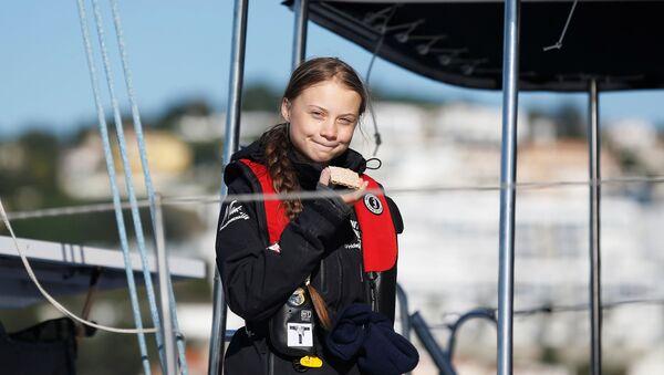 Greta Thunberg arriva a Lisbona il 3 dicembre , 2019 - Sputnik Italia
