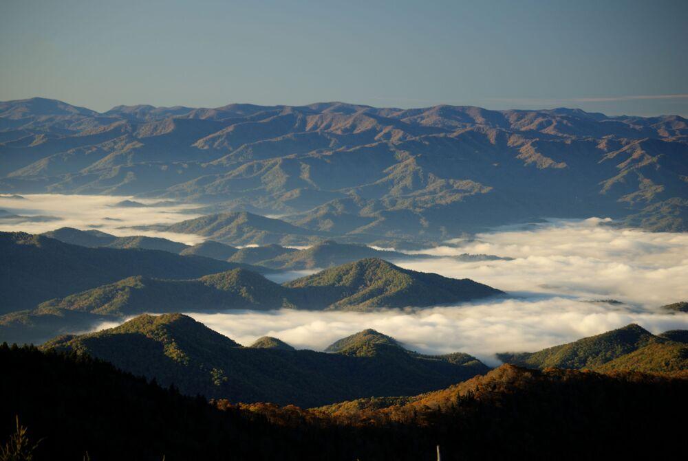 Vista delle Great Smoky Mountains negli Stati Uniti