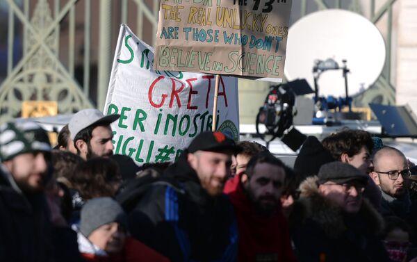 La marcia per il clima a Torino - Sputnik Italia