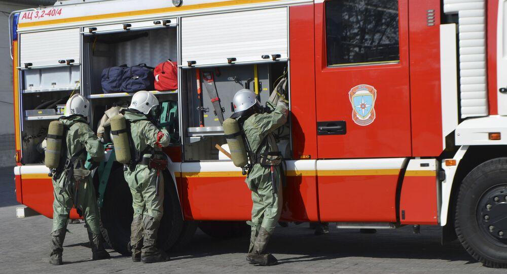 Vigili del fuoco in Russia