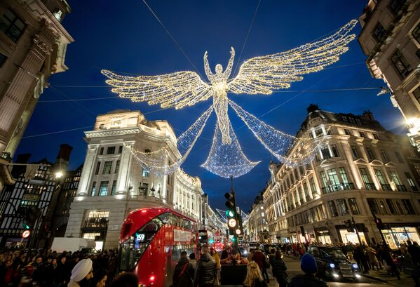L'atmosfera natalizia a Londra. - Sputnik Italia