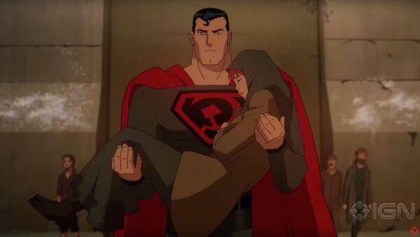 Una scena del trailer del film animato Superman: Red Son - Sputnik Italia