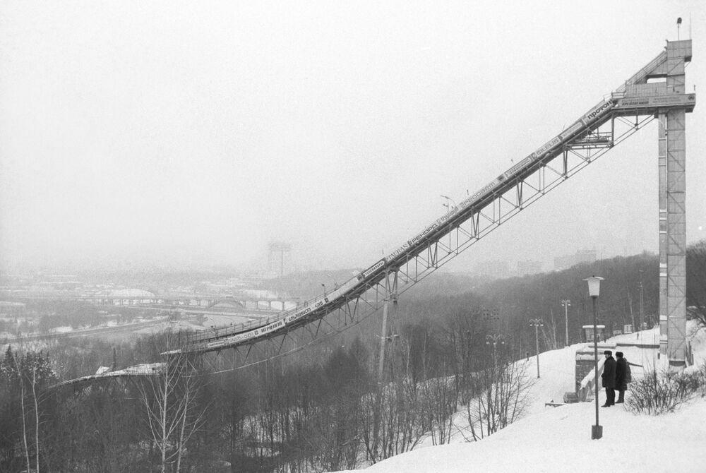 Il trampolino di 60 metri per gli sci sulla Collina di Lenin (adesso Vorobyovy Gory)