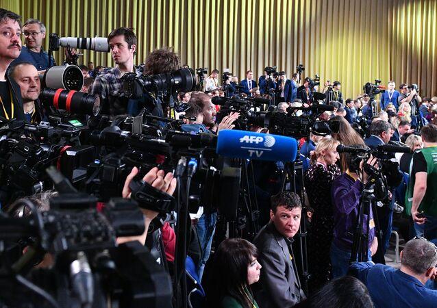La grande conferenza stampa di fine anno del presidente russo Vladimir Putin. Il 19 dicembre 2019